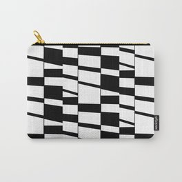 Slanting Rectangles - Black and White Graphic Art by Menega Sabidussi Carry-All Pouch