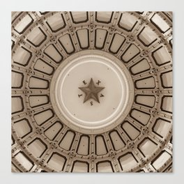 Dome of the Texas State Capitol - Austin - Sepia Canvas Print
