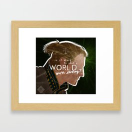 A World Worth Saving Framed Art Print