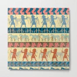 Egyptian Unicorn Pattern Metal Print