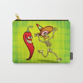 Hot Chili Pepper Nightmare for a Mexican Skeleton Carry-All Pouch