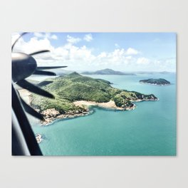 Flying over Whitsundays Canvas Print