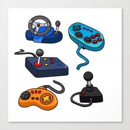 Video Game  Controls Canvas Print