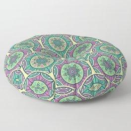 Mosaico Purple Teal Floor Pillow