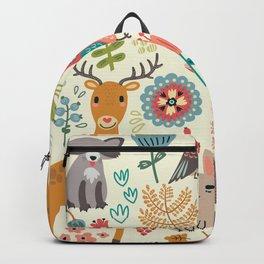 Woodland Animal Pattern Backpack