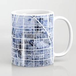 Las Vegas City Street Map Coffee Mug