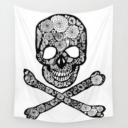 Skull N Roses Wall Tapestry