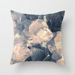 Crystal Blue Throw Pillow