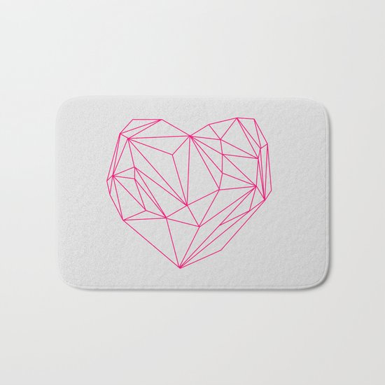Heart Graphic Neon Version Bath Mat