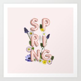 Rose Gold Spring Flower Blush Art Print