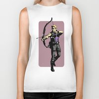 clint barton Biker Tanks featuring Clint by Shop 5
