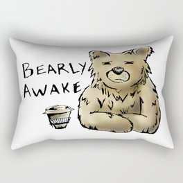Bearly Awake Funny Pun Rectangular Pillow
