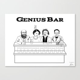 Genius Bar Canvas Print