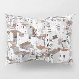 HOUSES - TALL - WHITE Pillow Sham