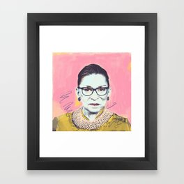 What Would RBG Do (4/6) Framed Art Print