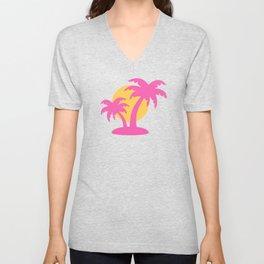 Summer Palm Tree Unisex V-Neck
