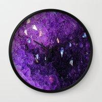 minerals Wall Clocks featuring Minerals Rock II by Stella Ralph-Ağbaş