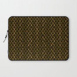 Golden Brown Scissor Stripes Laptop Sleeve