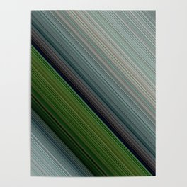 Decorative Colorful Green Blue Lines Design Poster