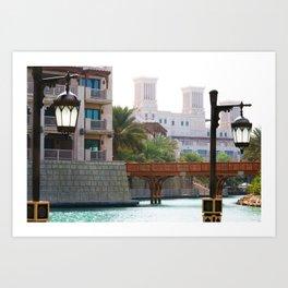 Dubai - Outside Burj Al Arab Art Print