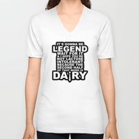 himym V-neck T-shirts featuring HIMYM: Legendary by dutyfreak
