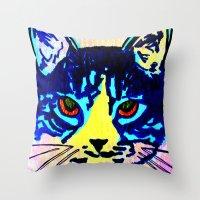 Pop Art Cat No. 2 Throw Pillow