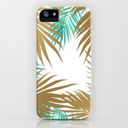 Golden Paradise Beach Pattern iPhone Case
