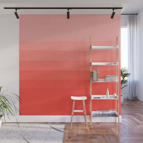 Living Coral Light to Bright Gradient by abstractcolor