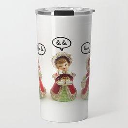 Fa La, La La, Laaa - A Vintage Christmas Travel Mug