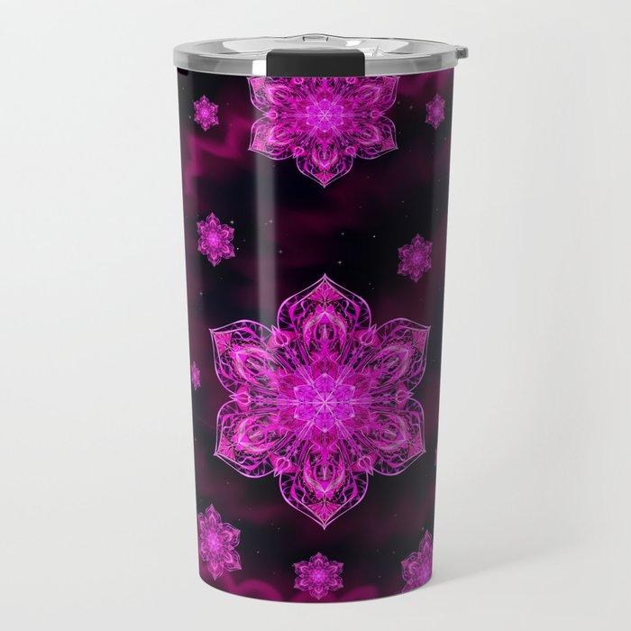 Starry Snow Spiral Travel Mug
