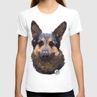 german shepherd T-shirts featuring German Shepherd by ArtLovePassion