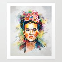 frida kahlo Art Prints featuring Frida Kahlo by Tracie Andrews