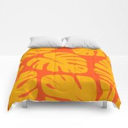 Monstera Leaf Print 1 Comforters