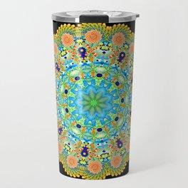 Under The Sea Psychedelic Kaleidoscopic Mandala Travel Mug