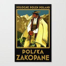 Zakopane Poland - Vintage Travel Canvas Print