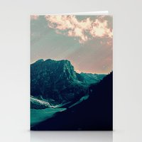 snowboard Stationery Cards featuring Mountain Call by Schwebewesen • Romina Lutz
