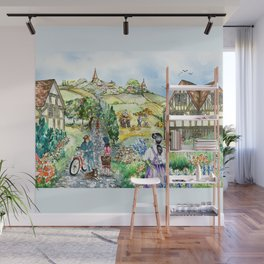 European Village Wall Mural