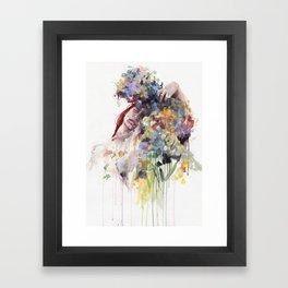 scentless flowers Framed Art Print