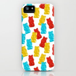 Red, Yellow and Blue Gummy Bear Candy iPhone Case