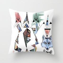 Mountian Wolves  Throw Pillow