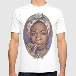 Watercolor Painting of Nina Simone T-shirt