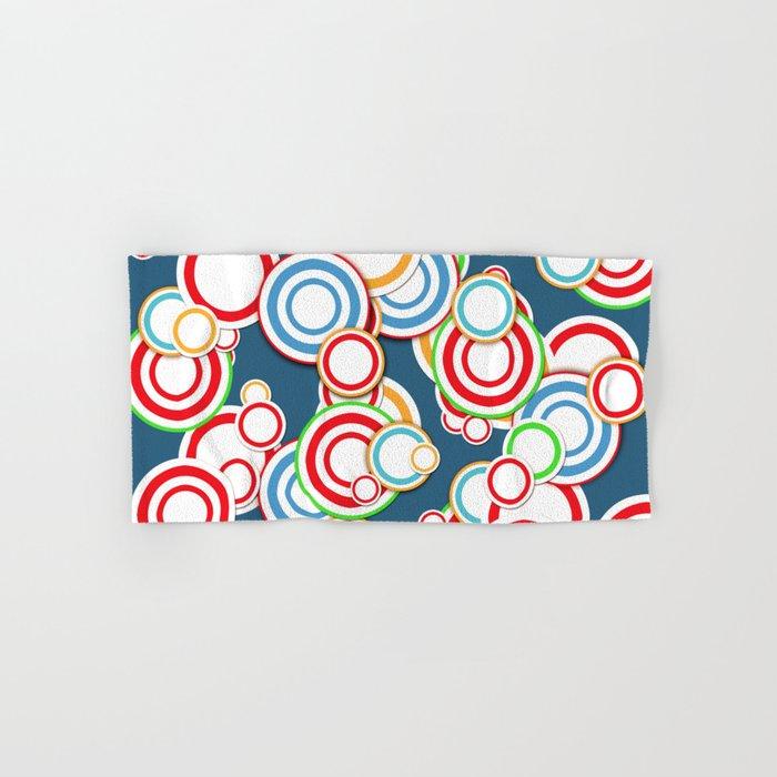 Pattern circle top Hand & Bath Towel