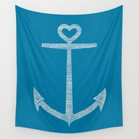kpop Wall Tapestries featuring Love is the anchor by Picomodi
