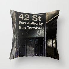 42nd street subway stop Throw Pillow
