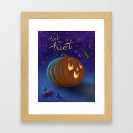 Trick or Treat! Framed Art Print