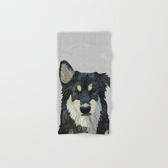 Bjorn - Malamute Samoyed Husky Mix Hand & Bath Towel