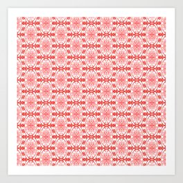 Peppermint Winter Red and White with Pink Accents High Contrast Spirit Organic Art Print