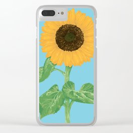 Sunflower #4 Clear iPhone Case