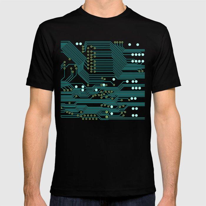 Dark Circuit Board T-shirt