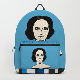 Mary Shelley, hand-drawn portrait Backpack